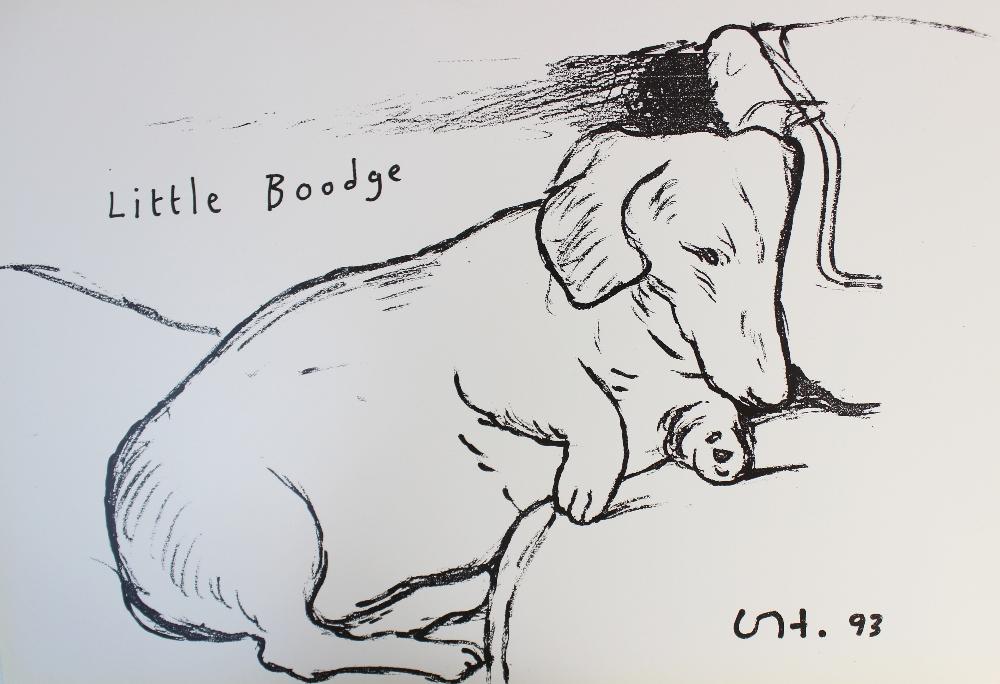 After David Hockney (British, b.1937), Print on paper, 'Little Boodge' (1993), Unsigned,