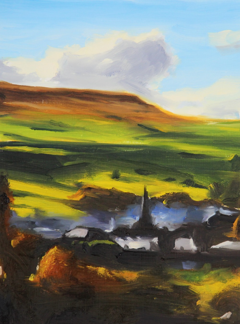 Liam Spencer (Contemporary British, b1964), 'Waterfoot' (2005), Oil on board, Titled and signed