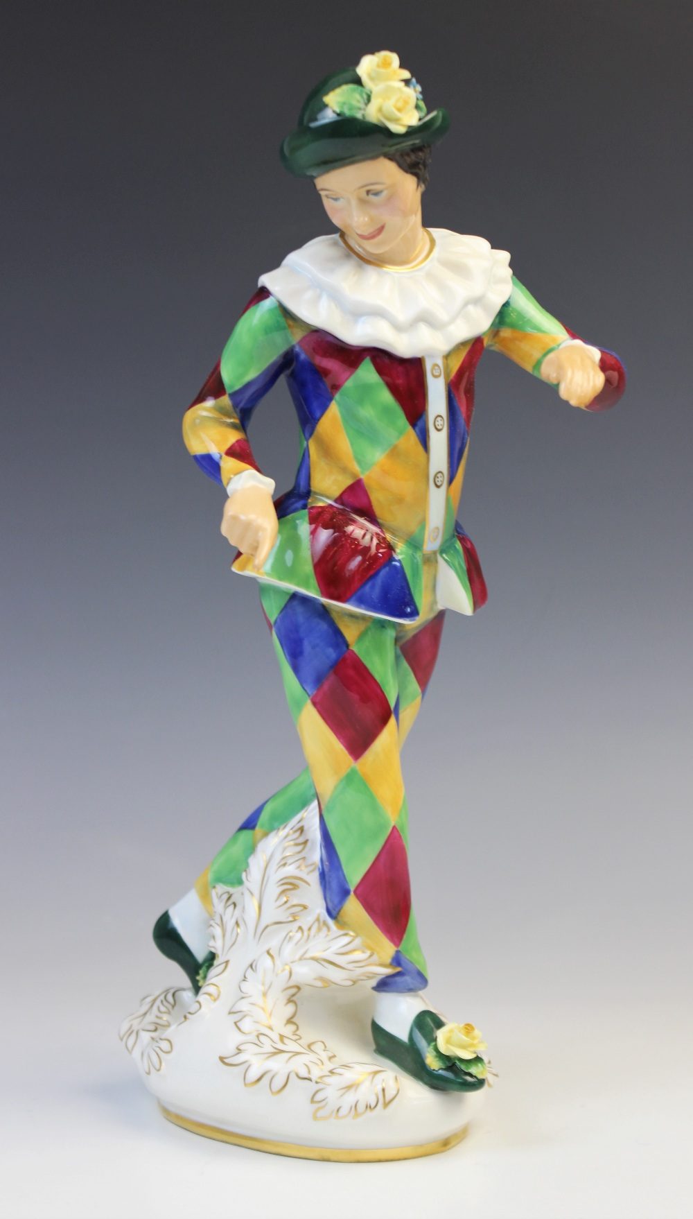 A Royal Doulton HN2737 'Harlequin' figure modelled by Douglas Tootle, printed maker's mark and