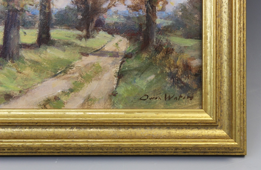 Owen Waters (1916-2004), 'Farm Road, Beighton, Norfolk', Oil on board, Signed lower right, titled - Image 3 of 4