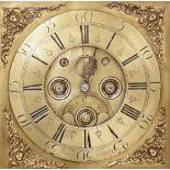 A mid 18th century oak cased thirty hour longcase clock by 'R Richard, Midgley', the 30cm brass dial