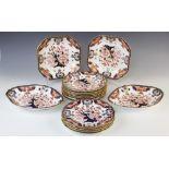 A Royal Crown Derby Kings Imari pattern part dinner service, comprising; twelve plates, 22.5cm