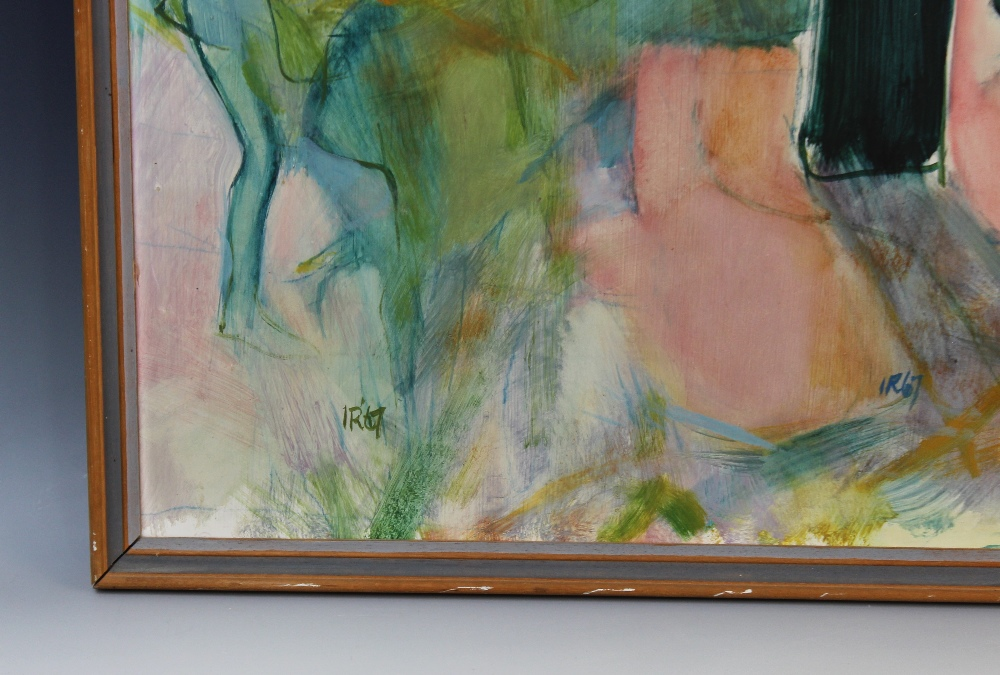 Modern school (20th century), An abstract still life, Oil on board, Inscribed 'IR67' lower left - Image 3 of 3