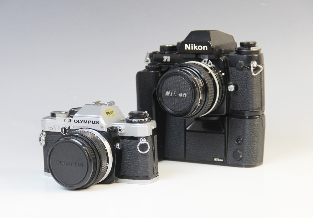 A Nikon F3 35mm SLR camera serial number 1823249, mid 20th century, fitted with a Nikkor 50mm 1:1. - Image 2 of 3