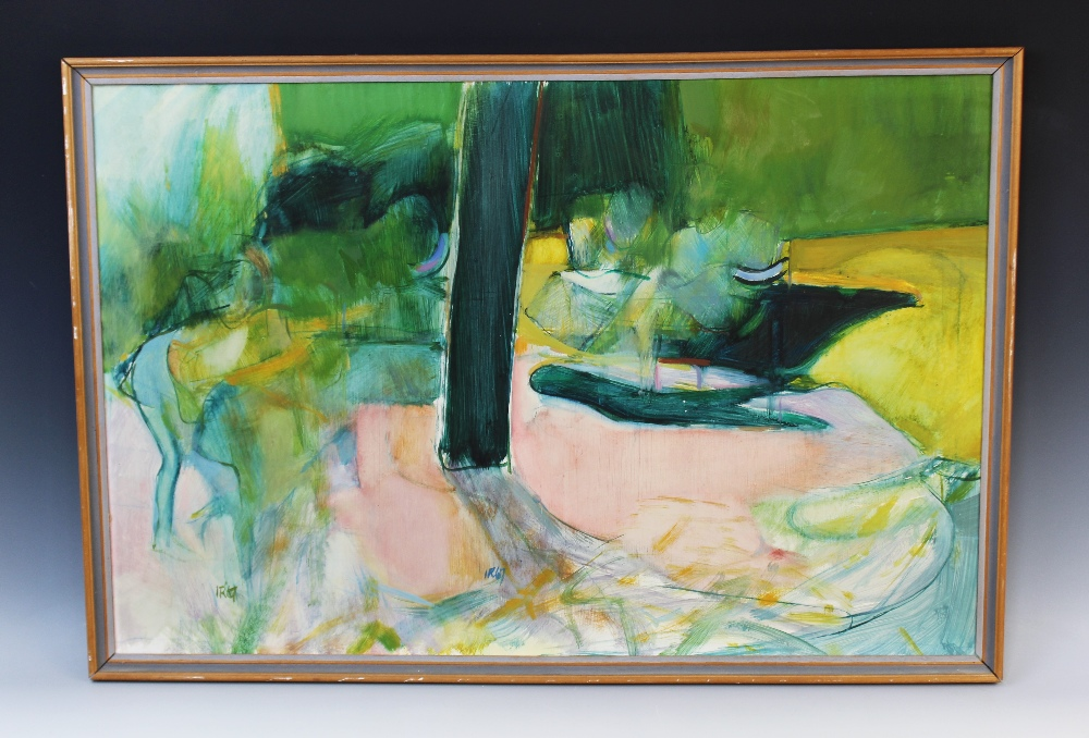 Modern school (20th century), An abstract still life, Oil on board, Inscribed 'IR67' lower left - Image 2 of 3