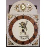 A George III oak cased thirty hour longcase clock, signed John Lloyd, Brecon, the 33cm break arch