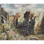 Raymond Besse (French, 1899-1969), 'Rue St Vincent (vieux Montmartre), Oil on canvas, Signed lower