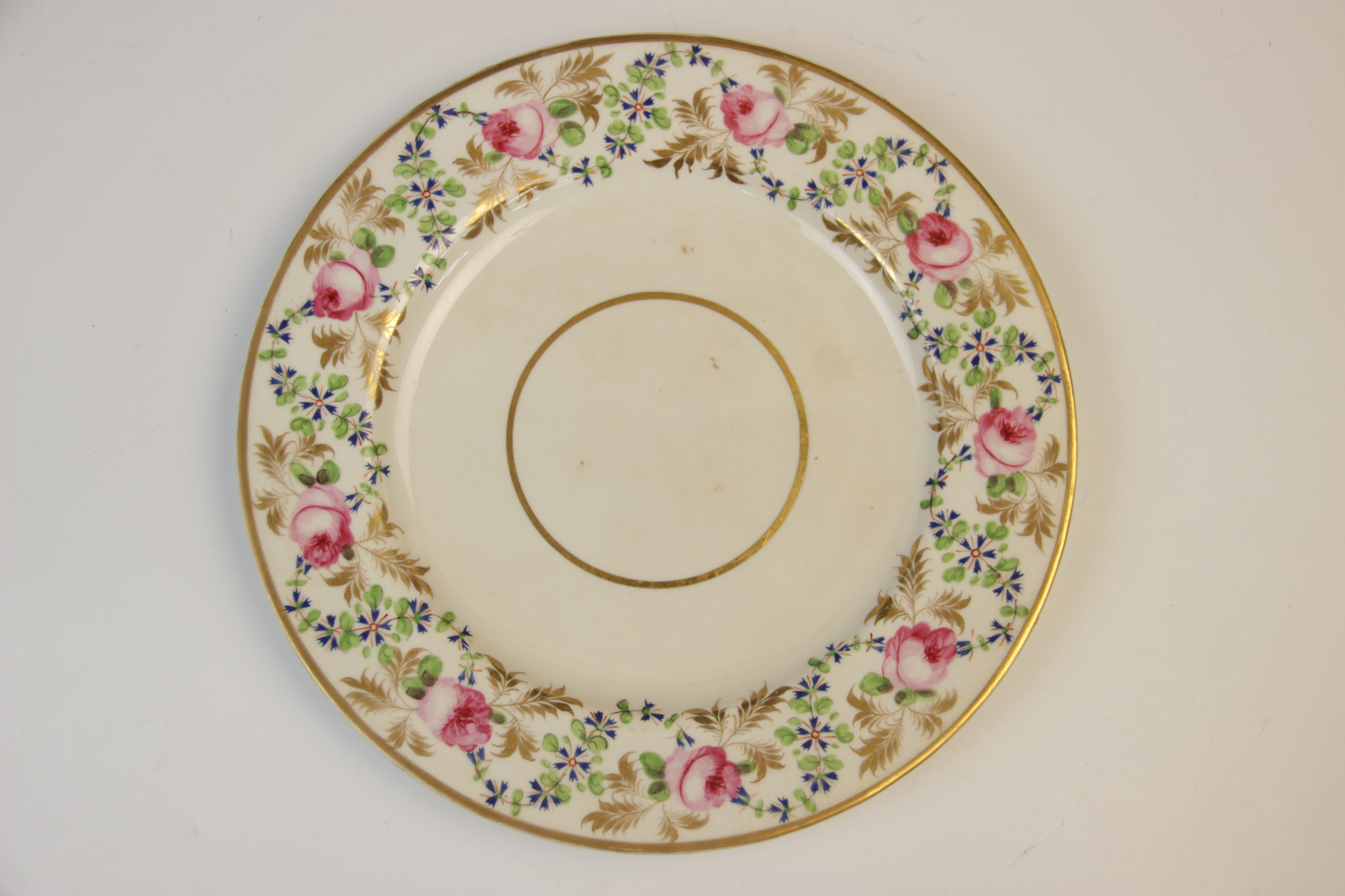 Fifteen Derby florally decorated plates, 19th century, each of circular form and decorated with - Image 10 of 11