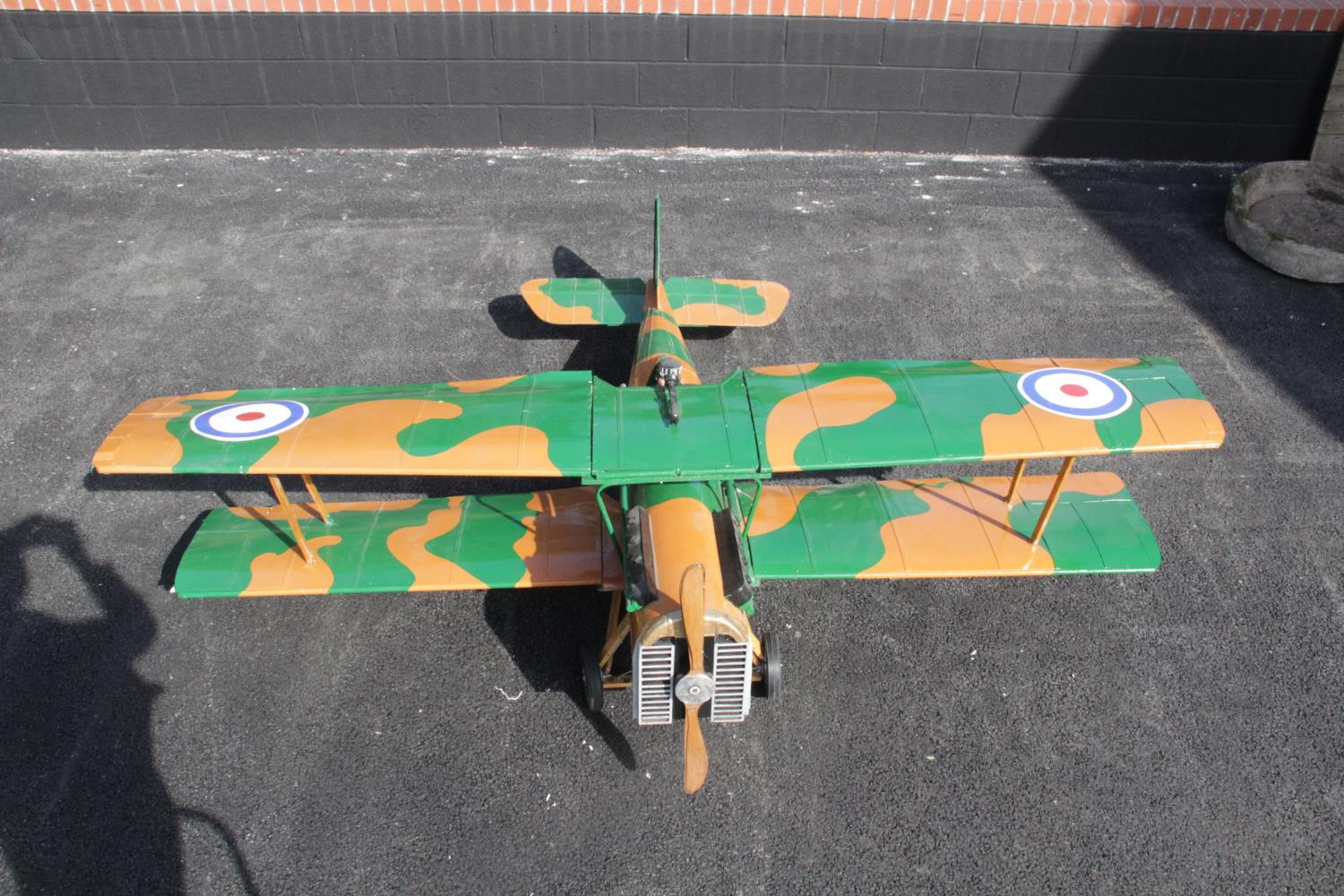 WORLD WAR I INTEREST: A large scratch-built ¼ scale model of a Royal Aircraft Factory SE5a fighter - Image 3 of 5