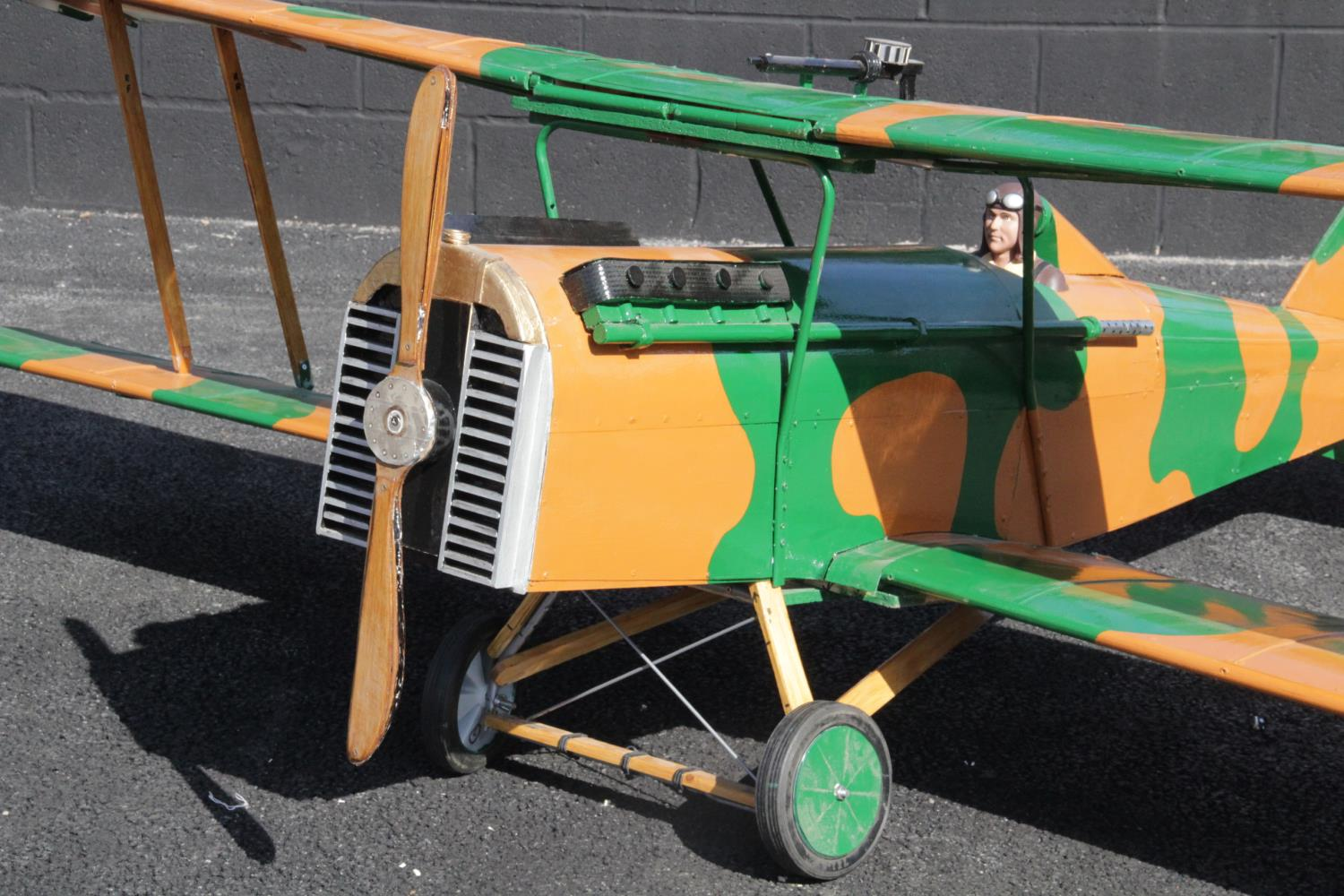 WORLD WAR I INTEREST: A large scratch-built ¼ scale model of a Royal Aircraft Factory SE5a fighter - Image 5 of 5
