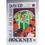 A David Hockney exhibition poster for the '18.8.-18.11.2018' exhibition held at the Kunsthalle