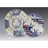 Two Japanese Imari plates, 18th/19th century, one of scalloped form and decorated with a stylised