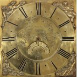A George III oak cased thirty hour longcase clock, signed 'Evans & Son, Salop', the 28cm square