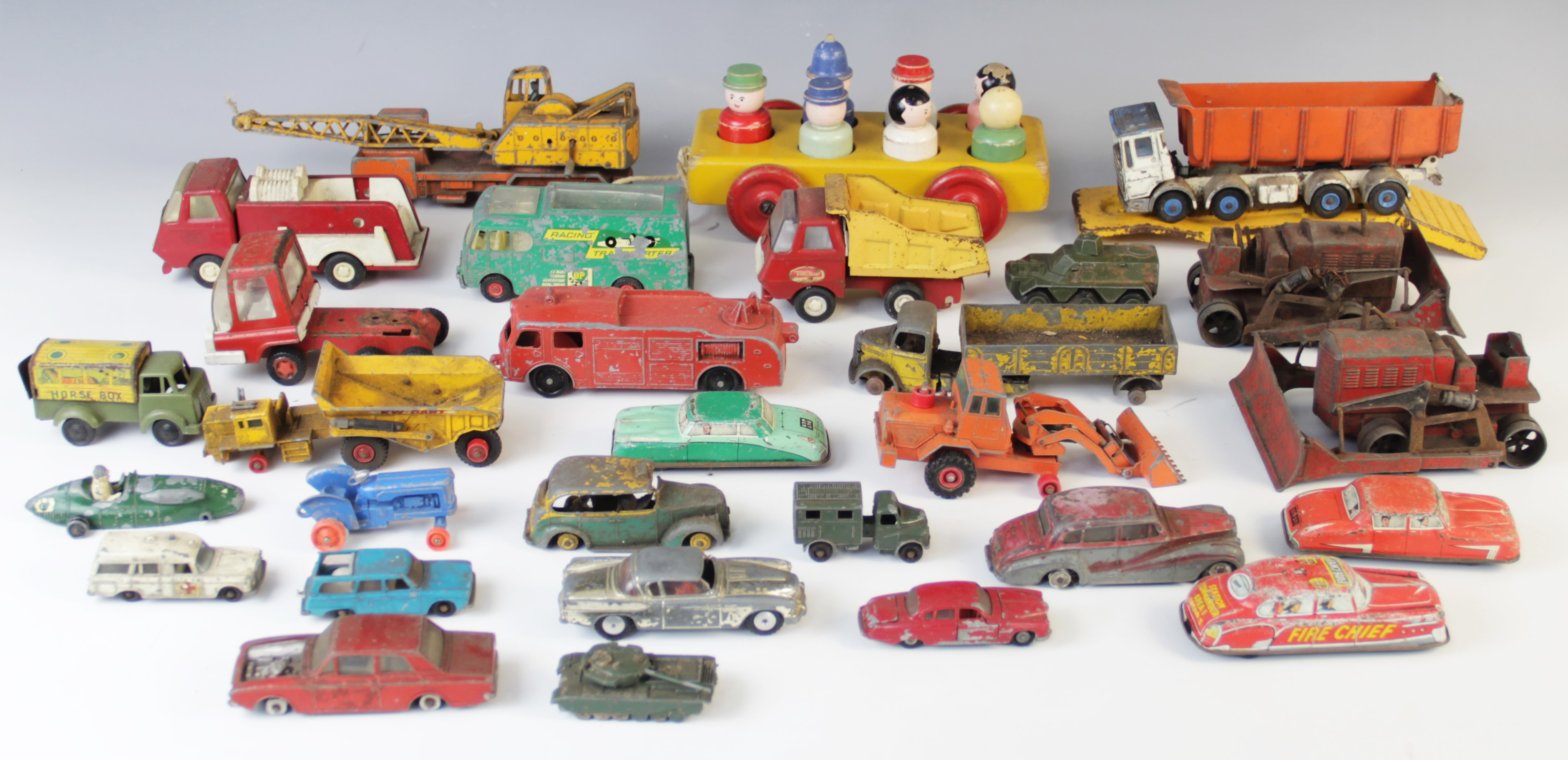 A collection of vintage diecast model vehicles, by makers to include Corgi,