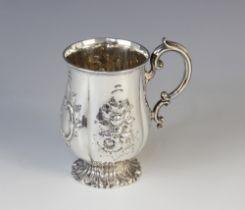 A Victorian silver christening mug by Edward & John Barnard, London 1856, of baluster form with