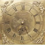 A George III oak and mahogany cross banded thirty hour longcase clock by 'Rob Webster, Salop', the