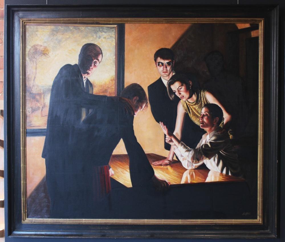 Stuart Luke Gatherer (Scottish, b.1972), 'Days Of Light And Darkness', Oil on canvas, Signed lower - Image 2 of 6