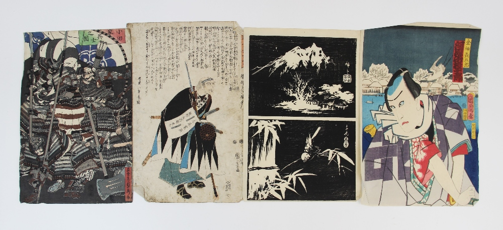 Five Japanese woodblock prints on paper, Ukiyo-e school, mid 19th century, with two early 20th - Image 7 of 8