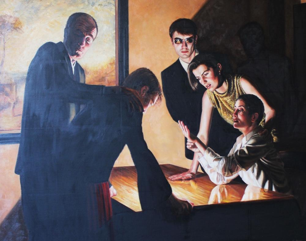 Stuart Luke Gatherer (Scottish, b.1972), 'Days Of Light And Darkness', Oil on canvas, Signed lower