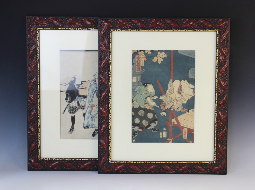 A Japanese Ukiyo-e school woodblock print, late 18th or early 19th century, attributed to Utagawa - Image 3 of 4