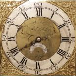 An 18th century oak cased thirty hour longcase clock signed 'Rob Webster, Salop', the 29cm square