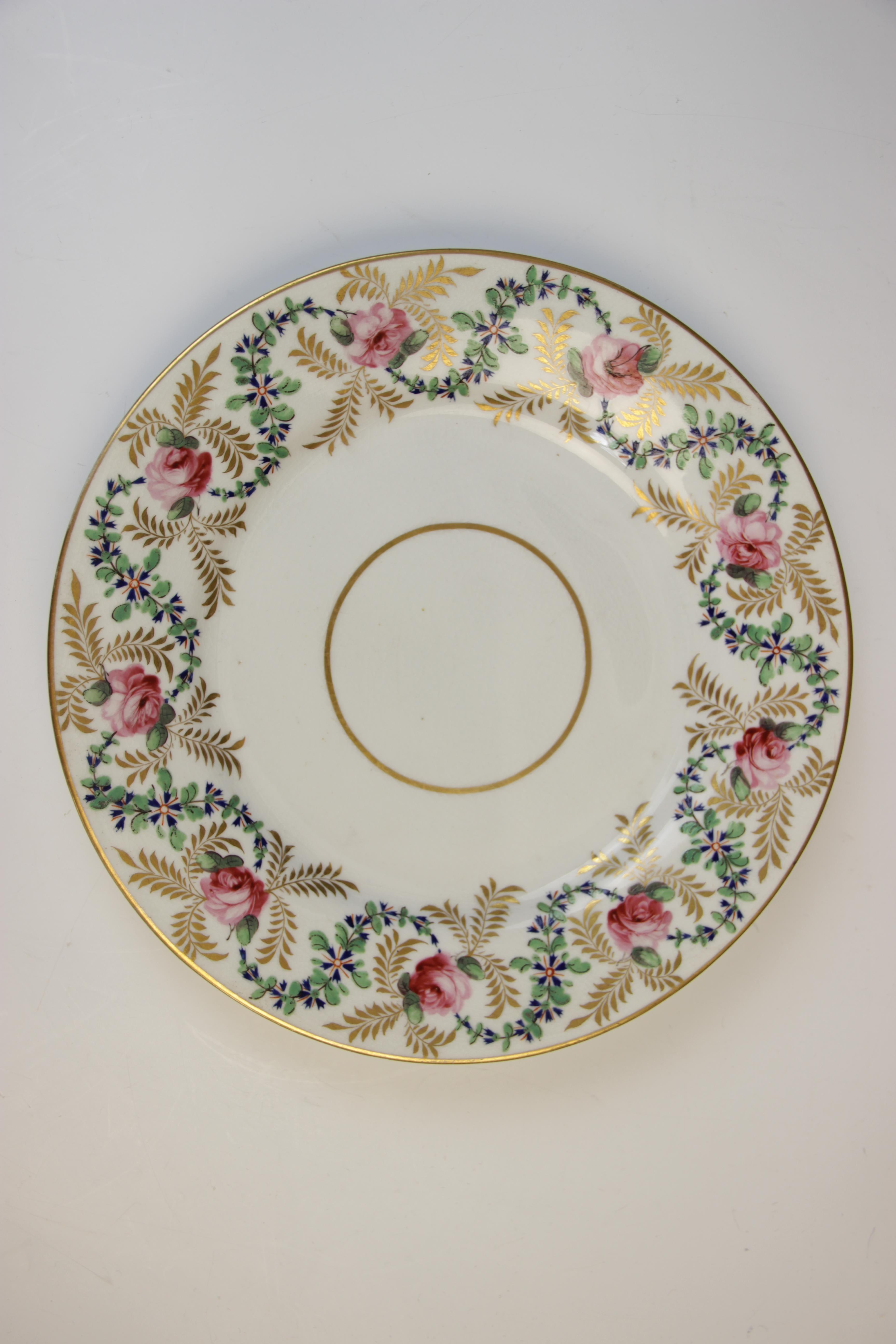Fifteen Derby florally decorated plates, 19th century, each of circular form and decorated with - Image 8 of 11