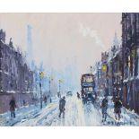 Reg Gardner (British b.1948), 'Oldham Rd Failsworth', Oil on canvas, Signed lower right, 24cm x