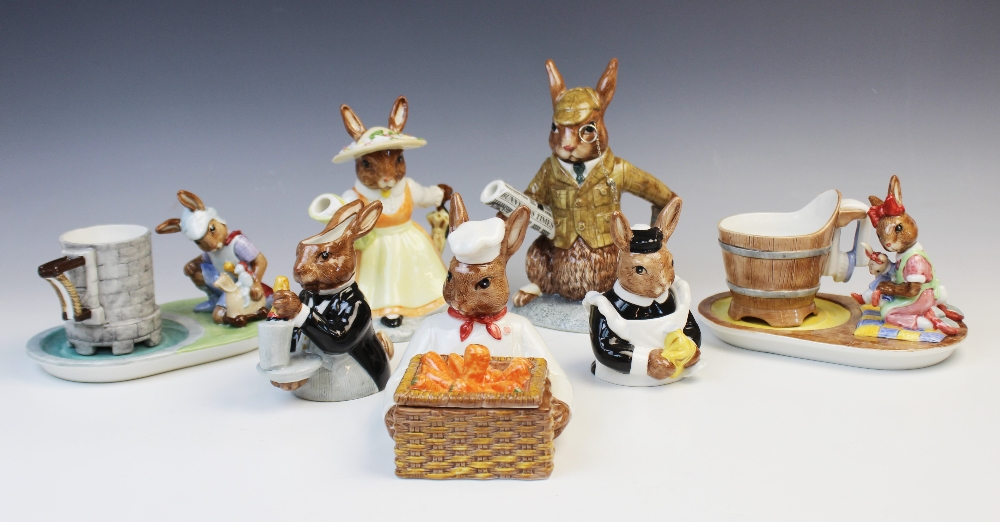 A limited edition Royal Doulton 'Bunnykins Country Manor Teaset', comprising: a 'Lady Of The Manor