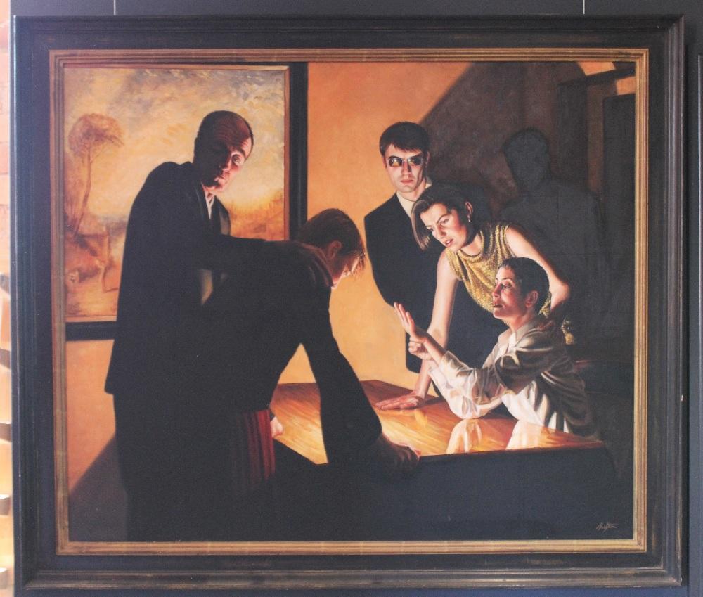 Stuart Luke Gatherer (Scottish, b.1972), 'Days Of Light And Darkness', Oil on canvas, Signed lower - Image 4 of 6