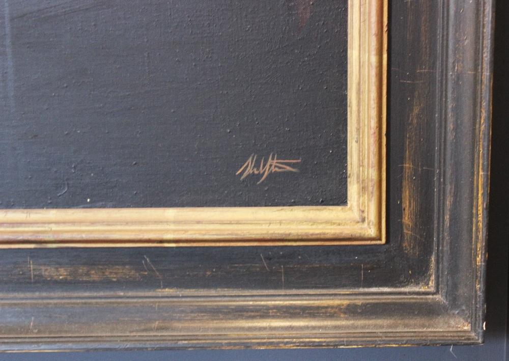 Stuart Luke Gatherer (Scottish, b.1972), 'Days Of Light And Darkness', Oil on canvas, Signed lower - Image 3 of 6