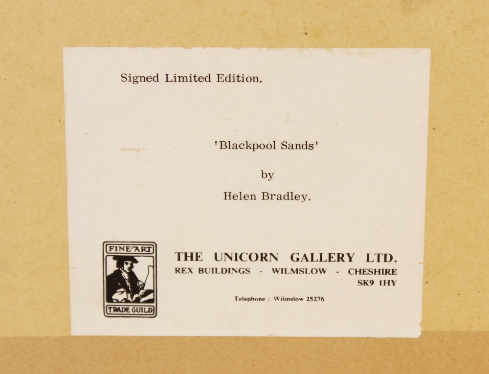 Helen Layfield Bradley (1900-1979), 'Blackpool Sands', Print on paper, Signed in pencil lower - Image 5 of 5