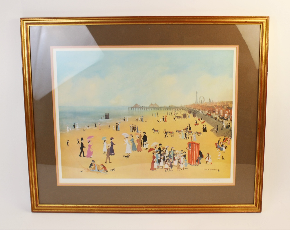 Helen Layfield Bradley (1900-1979), 'Blackpool Sands', Print on paper, Signed in pencil lower - Image 2 of 5