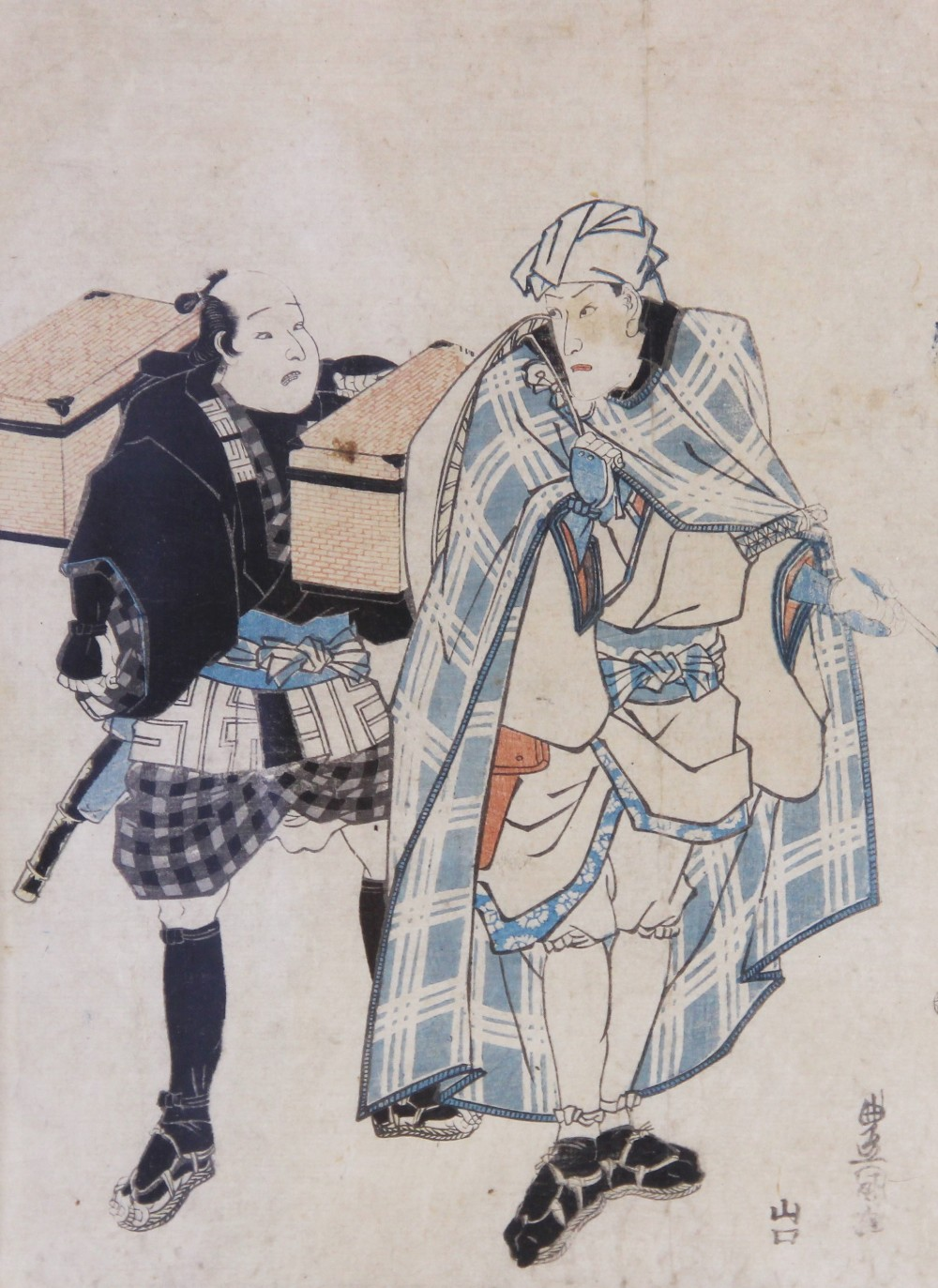 A Japanese Ukiyo-e school woodblock print, late 18th or early 19th century, attributed to Utagawa - Image 2 of 4