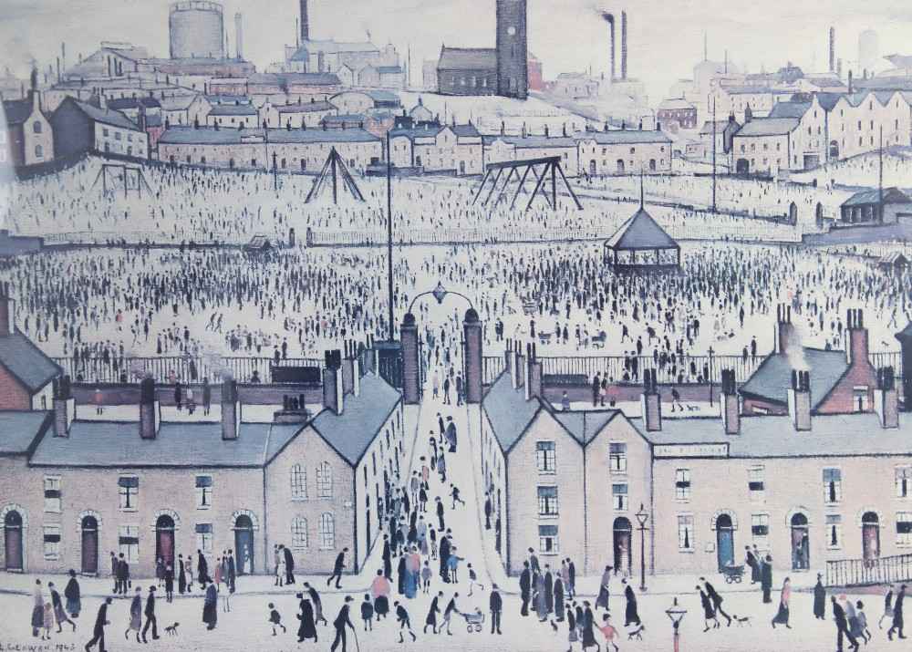 Laurence Stephen Lowry RA (British 1887-1976), 'Britain at Play' Limited edition print on paper,