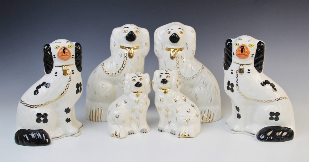 Two pairs of Beswick spaniels, 20th century, comprising; model 1378-4, each 24cm high (one at