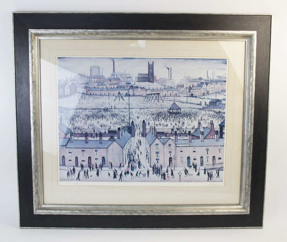 Laurence Stephen Lowry RA (British 1887-1976), 'Britain at Play' Limited edition print on paper, - Image 2 of 7