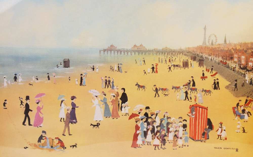 Helen Layfield Bradley (1900-1979), 'Blackpool Sands', Print on paper, Signed in pencil lower