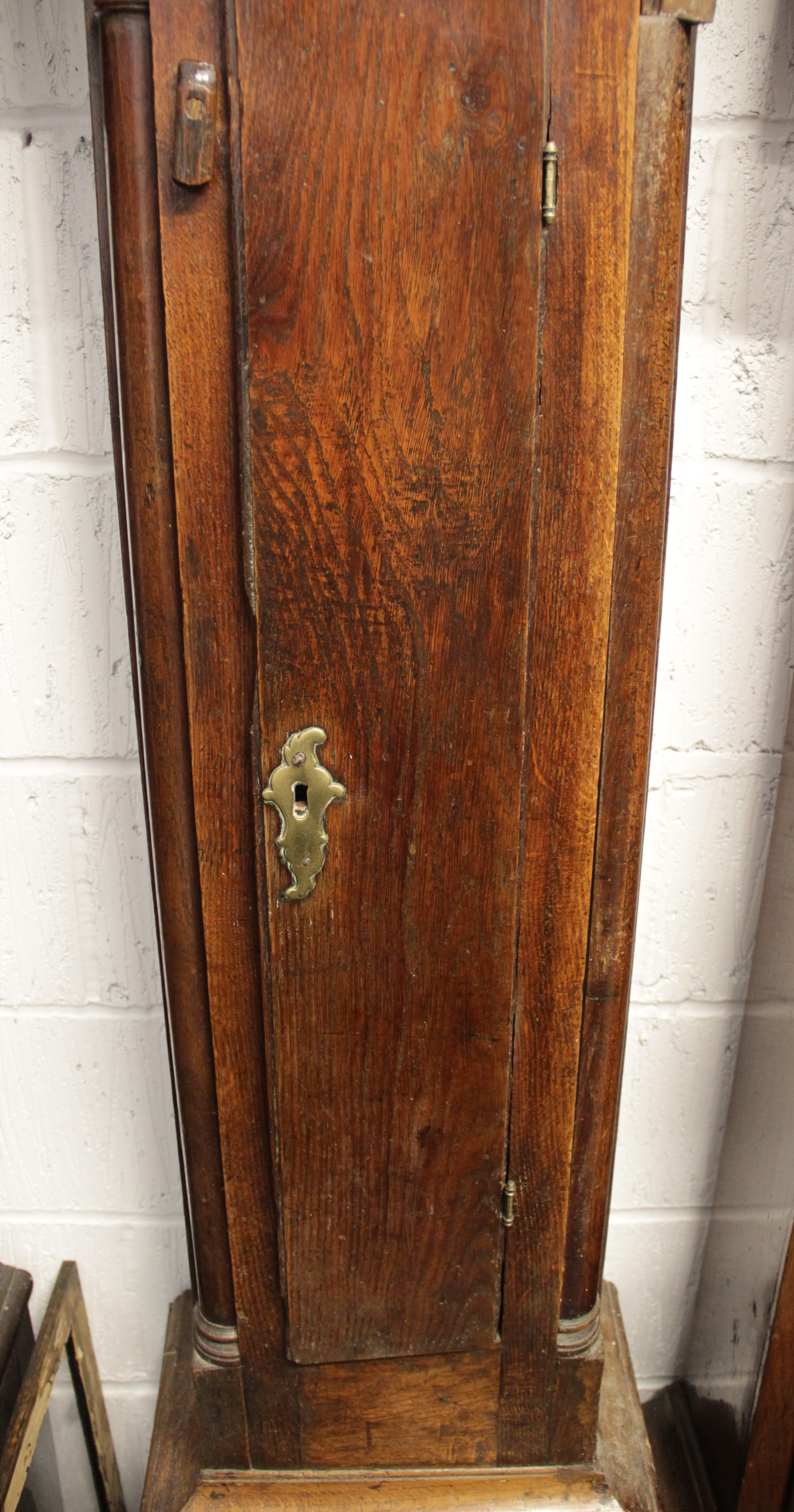 A mid 18th century oak cased thirty hour longcase clock, signed 'James Webster, Salop', the 29cm - Image 4 of 4