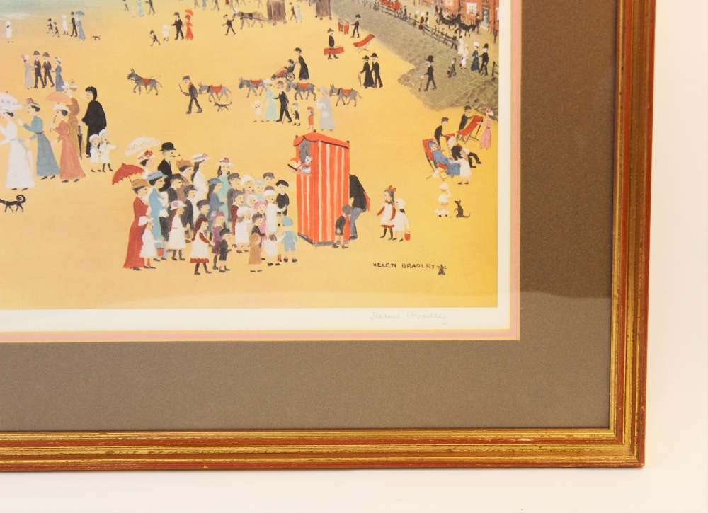 Helen Layfield Bradley (1900-1979), 'Blackpool Sands', Print on paper, Signed in pencil lower - Image 3 of 5