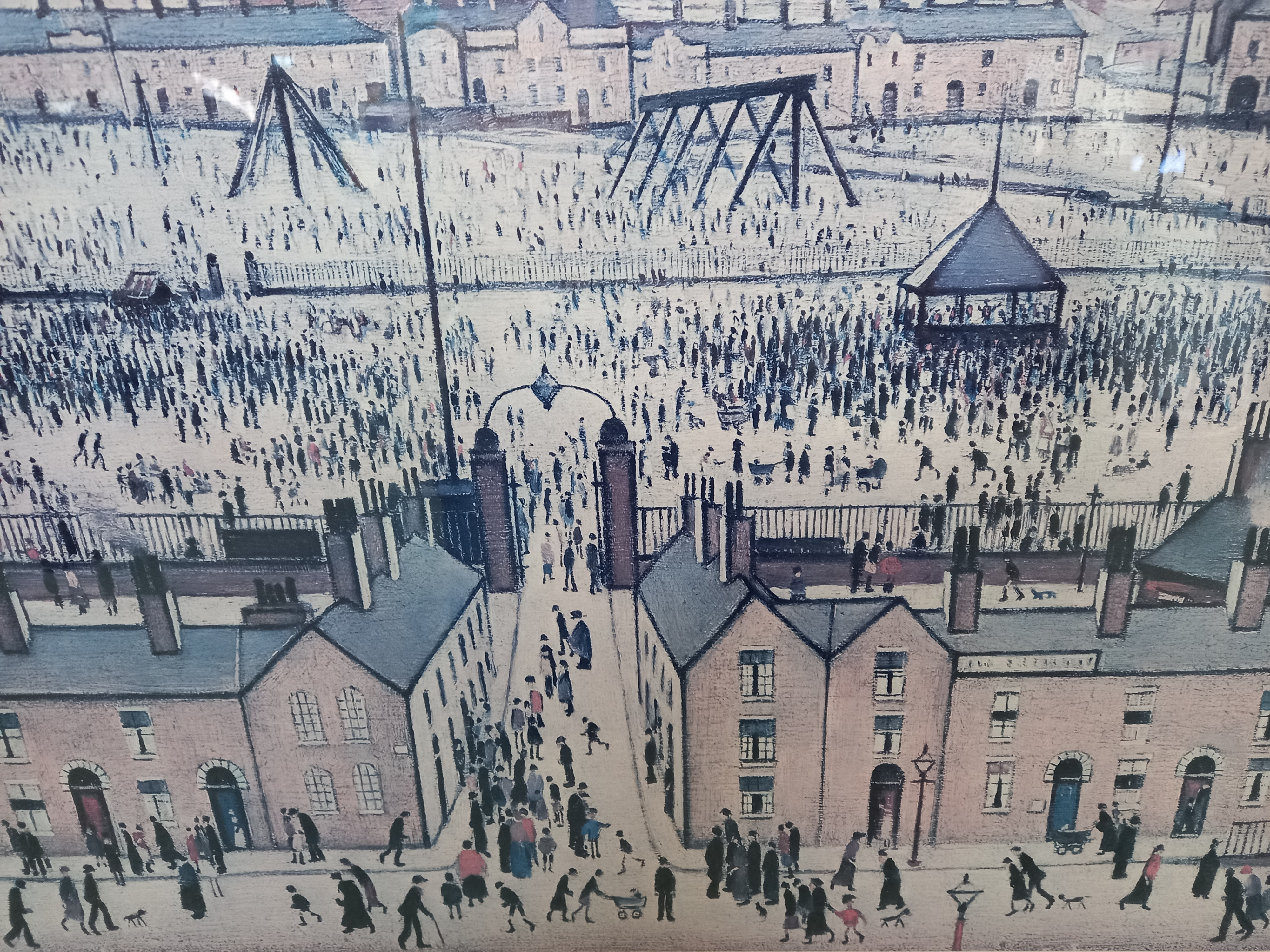Laurence Stephen Lowry RA (British 1887-1976), 'Britain at Play' Limited edition print on paper, - Image 4 of 7