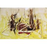 Roy Turner Durrant (English, 1925?1998), Untitled abstract in yellow, ochre and red, Gouache on