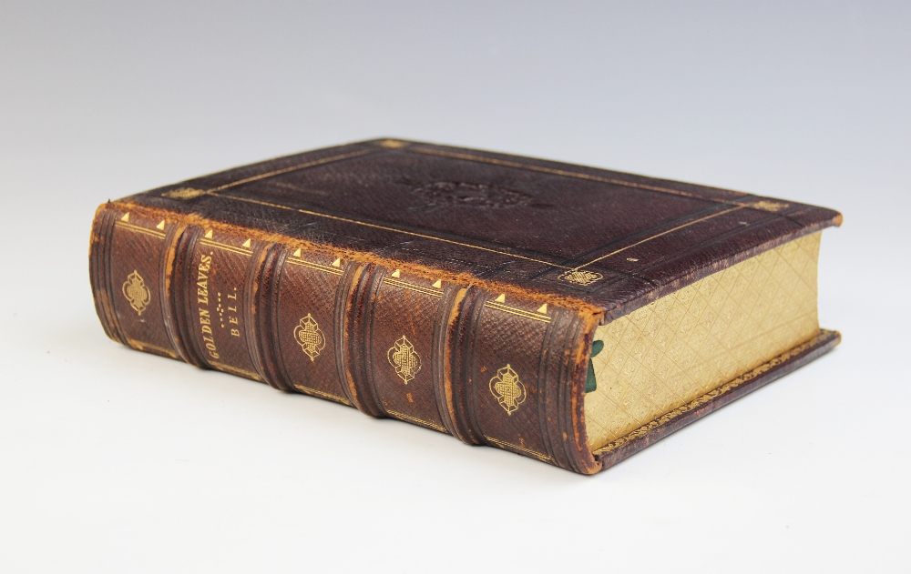 Bell (R), GOLDEN LEAVES FROM THE WORKS OF THE POETS AND PAINTERS, first edition, full leather, - Image 2 of 9