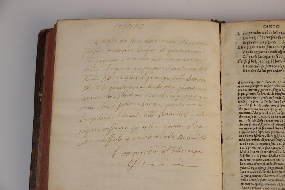 Dante Alighieri, OPER'E DEL DIVINO POETA DANTHE CON SUOI COMENTI: RECORRECTI ET CON OCNE - Image 5 of 6