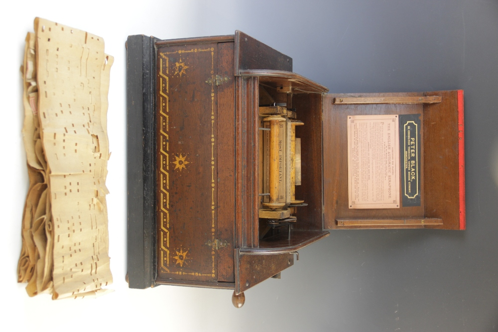 An English Automatic Seraphone, retailed by Peter Black of Manchester, in gilt stencilled mahogany - Image 2 of 6
