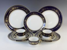 A Limoges part-service following The House of Igor Carl Faberge Fleurs Imperiales pattern,