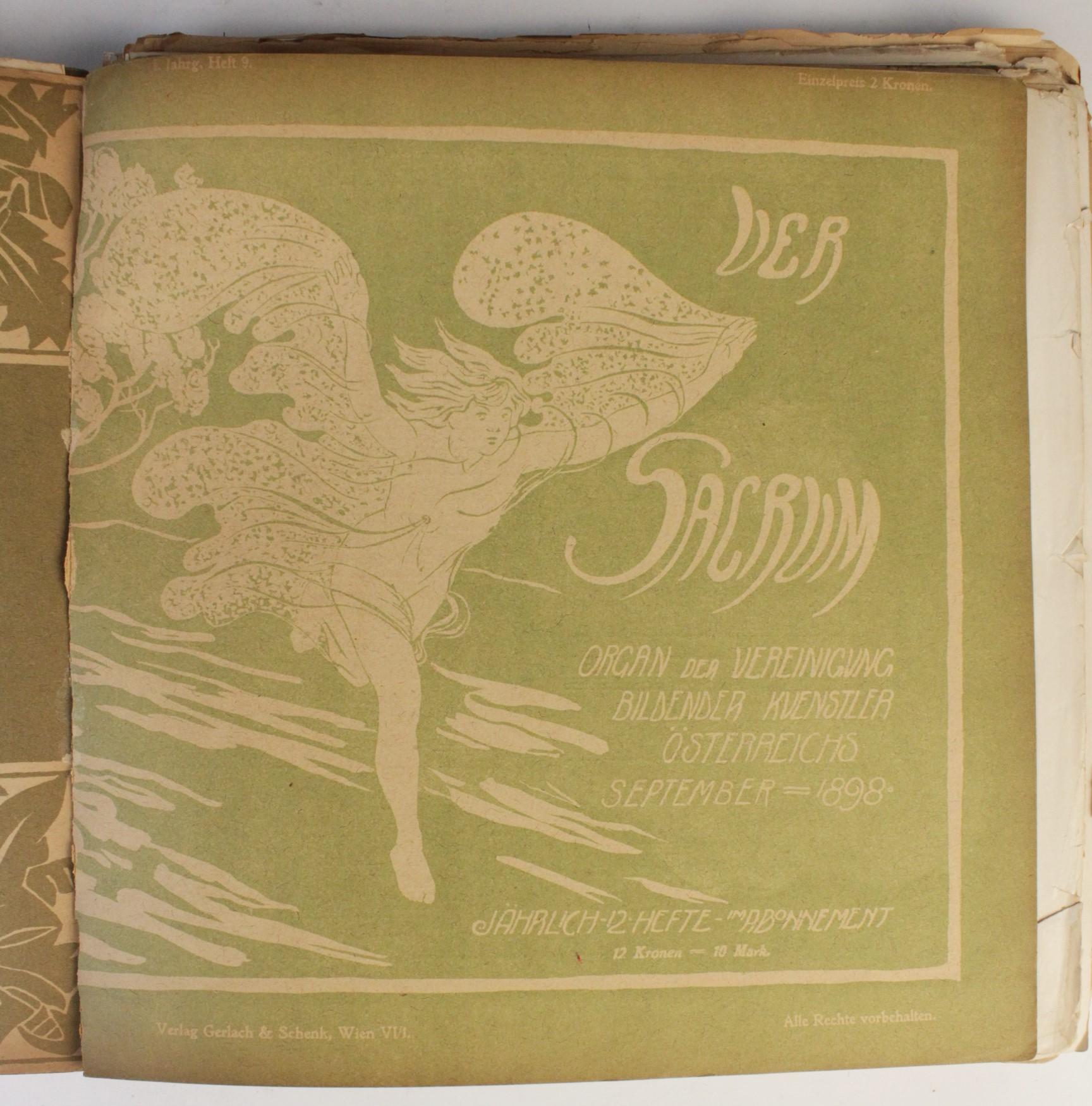 VER SACRUM, ORGAN DER JEREINIGUNG BILDENDER KUENSTLER OSTERREICHS [ORGAN OF THE PURIFICATION OF - Image 10 of 16