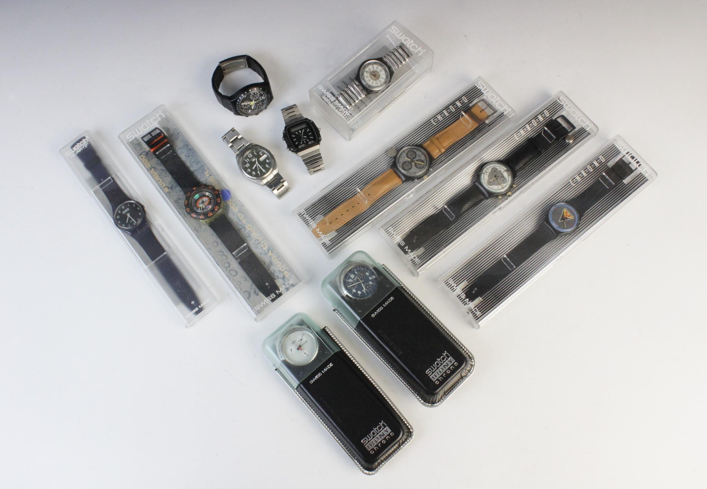 A large collection of vintage and modern dress watches, including a Longines Quartz T1 Timer, a - Image 2 of 11