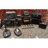 A collection of amateur 'ham' radio equipment, comprising: a Yaesu FTDX 3000 transceiver, an ATU 897