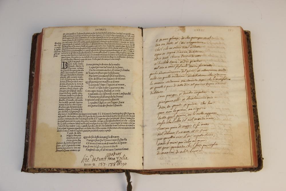 Dante Alighieri, OPER'E DEL DIVINO POETA DANTHE CON SUOI COMENTI: RECORRECTI ET CON OCNE - Image 3 of 6