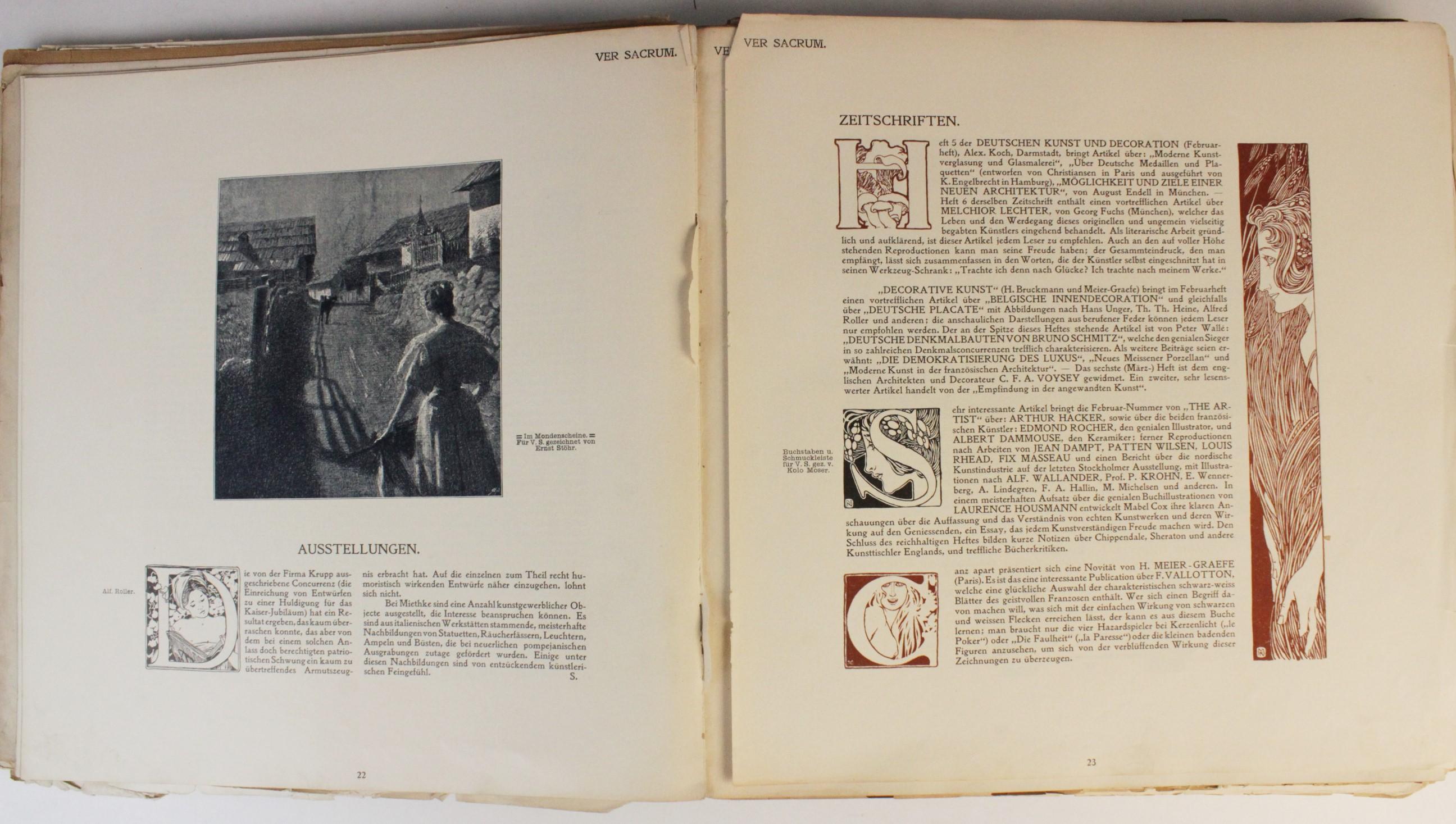 VER SACRUM, ORGAN DER JEREINIGUNG BILDENDER KUENSTLER OSTERREICHS [ORGAN OF THE PURIFICATION OF - Image 5 of 16